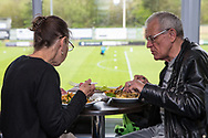 FGR dining during the Vanarama National League match between Forest Green Rovers and Chester FC at the New Lawn, Forest Green, United Kingdom on 14 April 2017. Photo by Shane Healey.