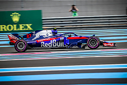 Pierre Gasly (Red Bull Toro Rosso Honda) rides during the qualifying session of Grand Prix de France 2018, Le Castellet, France, on June 23rd, 2018. Photo by Marco Piovanotto/ABACAPRESS.COM