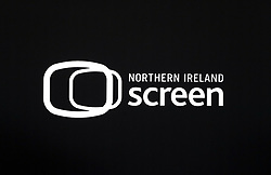 Close up of the Northern Ireland Screen logo at the Game of Thrones Premiere, held at Waterfront Hall, Belfast.