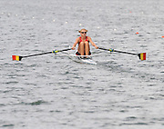 Lucerne, SWITZERLAND,  BEL W1X, Annick DE DECKER, moves away from the start, of the third round of the  2009 FISA World Cup,  on the Rottsee regatta Course, Friday  10/07/2009 [Mandatory Credit Peter Spurrier/ Intersport Images].