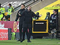 Football - 2020 / 2021 Sky Bet Championship - Norwich City vs Watford - Carrow Road<br /> <br /> Norwich City manager Daniel Farke protests to Watford's Head Coach Xisco Munoz.<br /> <br /> COLORSPORT