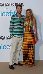 Francesco Maccapani Missoni and Fabrine Constantini arriving at a photocall for the Unicef Summer Gala Presented by Luisaviaroma at Villa Violina on August 10, 2018 in Porto Cervo, Italy. Photo by Alessandro Tocco/ABACAPRESS.COM