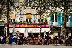 Cafe - Bistro in the Place Carnot in Carcassonne, France<br /> <br /> (c) Andrew Wilson   Edinburgh Elite media