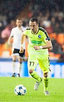 KAA Gent's Danijel Milicevic during Champions league match. October 20, 2015. (ALTERPHOTOS/Javier Comos)