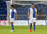 Blackburn Rovers' Ben Marshall trudges back to the halfway line after Mansfield equalise<br /> <br /> Photographer David Shipman/CameraSport<br /> <br /> Football - The EFL Cup First Round - Mansfield Town v Blackburn Rovers - Tuesday 9th August 2016 - One Call Stadium - Mansfield<br />  <br /> World Copyright © 2016 CameraSport. All rights reserved. 43 Linden Ave. Countesthorpe. Leicester. England. LE8 5PG - Tel: +44 (0) 116 277 4147 - admin@camerasport.com - www.camerasport.com