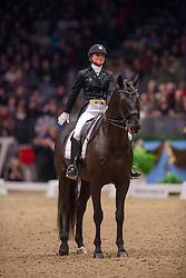 Telde Mina (SWE) - Santana<br /> Kur - Reem Acra FEI World Cup Dressage Qualifier - The London International Horse Show Olympia - London 2012<br /> © Hippo Foto - Jon Stroud