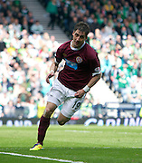 William Hill Scottish FA Cup Semi Final CELTIC FC v HEART OF MIDLOTHIAN FC Season 2011-12.15-04-12...RUDI SKACEL OF HEARTS CELEBRATES PUTTING HEARTS 1-0 UP   during the William Hill Scottish FA Cup Semi Final tie between CELTIC FC and HEART OF MIDLOTHIAN FC with the Winner facing   in this years Scottish Cup Final in May...At Hampden Park Stadium , Glasgow..Sunday 15th April 2012.Picture Mark Davison/ Prolens Photo Agency / PLPA