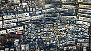 HAIKOU, CHINA - <br /> <br /> Aerial View Of 6,000 Scrap Cars After A Fire <br /> <br /> Aerial view of wreckage of scrap cars after a fire at a car park beside Haikou Prison  in Haikou, Hainan Province of China. A fire broken out in the car park with over 6,000 scrap cars  No one was hurt in the accident and the cause of the fire is still under investigation.<br /> ©Exclusivepix Media