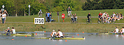 Eton, United Kingdom. Men's pair final, GBR M2- Bow Peter REED and Andy TRIGGS HODGE.  winning the A final at 2011 GBRowing Trials, Dorney Lake. Sunday  17/04/2011  [Mandatory Credit; Peter Spurrier/Intersport-images] Venue For 2012 Olympic Regatta and Flat Water Canoe events.