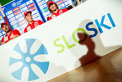 Tomas Kos, Janez Ozbolt and Miha Podgornik during press conference of Slovenian Biathlon Team before new winter season 2016/17, on November 10, 2016 in Petrol, Ljubljana, Slovenia. Photo by Vid Ponikvar / Sportida