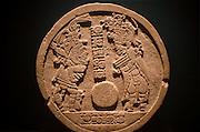 GUATEMALA, PRE-COLUMBIAN Nat. Museum of Anthropology Mayan Culture, ballplayers from El Peten, Late Classic Period