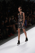 A dress with a draped sequined accent by Richard Chai at the Spring 2013 Mercedes Benz Fashion Week show in New York.