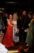"""Sienna Miller and Helen McCrory. after-show party following the opening night of  at Wyndham's Theatre of """"As You Like It"""", at Mint Leaf, Suffolk Place, London.  on June 21, 2005. ONE TIME USE ONLY - DO NOT ARCHIVE  © Copyright Photograph by Dafydd Jones 66 Stockwell Park Rd. London SW9 0DA Tel 020 7733 0108 www.dafjones.com"""