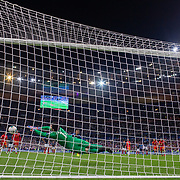 PARIS, FRANCE - September 10:   Goalkeeper Josep Gómes #1 of Andorra saves a penalty kick from Antoine Griezmann #7 of France during the France V Andorra, UEFA European Championship 2020 Qualifying match at Stade de France on September 10th 2019 in Paris, France (Photo by Tim Clayton/Corbis via Getty Images)