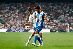 September 22, 2018 - Marco Asensio of Real Madrid and Javi Lopez of Espanyol during the La Liga (Spanish Championship) football match between Real Madrid and RCD Espanyol on September 22th, 2018 at Santiago Bernabeu stadium in Madrid, Spain. (Credit Image: © AFP7 via ZUMA Wire)