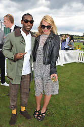 TINIE TEMPAH and BILLIE PIPER at the 2012 Veuve Clicquot Gold Cup Final at Cowdray Park, Midhurst, West Sussex on 15th July 2012.