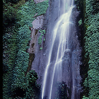 A waterfall in the Marsyandi Valley east of Annapurna in Nepal.