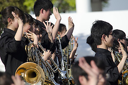 May 5, 2017 - Tokyo, Japan - Japanese High School Students play music during a Friday afternoon near Tokyo Bigh Sight. May 5, 2017. Photo by: Ramiro Agustin Vargas Tabares (Credit Image: © Ramiro Agustin Vargas Tabares via ZUMA Wire)