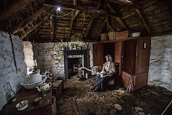 Interior of Sheilas Cottage on the island. Feature on the community on the island of Ulva, who have been awarded £4.4m in funding for their island buyout.