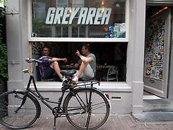 Coffeeshop called Grey Area in Grachtengordel district of Amsterdam The Netherlands