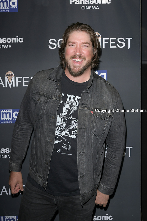 """TANNER BEARD attends the premiere screening of """"We Summon the Darkness"""" on closing night of the 19th Annual SCREAMFEST Horror Film Festival at TCL Chinese Theatre 6 in Los Angeles, California."""