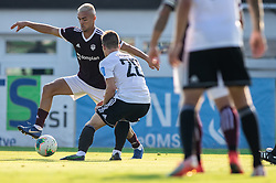 David Tijanić of Triglav vs Jon Šporn of Mura during football match between NK Triglav and NS Mura in 5th Round of Prva liga Telekom Slovenije 2019/20, on August 10, 2019 in Sports park, Kranj, Slovenia. Photo by Vid Ponikvar / Sportida