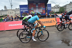 July 29, 2018 - London, United Kingdom - Cyclists prepare for The Prudential RideLondon - Surrey Classic 2018 in Central London on July 29, 2018. RideLondon, known through sponsorship as Prudential RideLondon, is an annual three-day festival of cycling held in London. It was developed by the Mayor of London, London and Partners and Transport for London in partnership with Surrey County Council, and is managed by London and Surrey Cycling Partnership. (Credit Image: © Alberto Pezzali/NurPhoto via ZUMA Press)