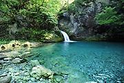 The Blue Eye of Kapre,  Syri i Kalter i Kaprese, a blue river pool. Teth, Tethi, Albania. 03Sep15