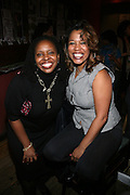 l to r: Olivia Scott-Perkins and Danyel Smith at The Vibe Magazine VIP Celebration for Vibe's December cover featuring the first New York show of Plies, held at The Knitting Factory on November 24, 2008 in NYC