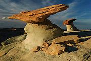 Balancing rock formations in the northern Arizona desert at sunset. Missoula Photographer