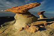 Balancing rock formations in the northern Arizona desert at sunset. Missoula Photographer