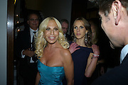 DONATELLA VERSACE; ALLEGRA VERSACE; , Vogue's Celebration of Fashion Dinner in association with Creme de la Mer. the Albermarle, Browns Hotel. Albermarle st. London. 18 September 2008. *** Local Caption *** -DO NOT ARCHIVE-© Copyright Photograph by Dafydd Jones. 248 Clapham Rd. London SW9 0PZ. Tel 0207 820 0771. www.dafjones.com.