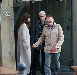 Director Danny Boyle with Jonny Lee Miller filming Transporting 2 in Leith.