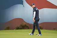Matt Wallace of England on the 18th green during the British Masters 2018 at Walton Heath Golf Course, Walton On the Hill, Surrey on 12 October 2018. Picture by Martin Cole.