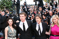 Kristen Stewart, Garret Hedlund, Walter Salles, Kirsten Dunst  at the On The Road gala screening red carpet at the 65th Cannes Film Festival France. The film is based on the book of the same name by beat writer Jack Kerouak and directed by Walter Salles. Wednesday 23rd May 2012 in Cannes Film Festival, France.