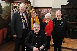 Dunfermline museum opening,Dunfermline, 6-9-2017<br /> <br /> Provist Jim Leishman with Brabara Dickson, Cllr Helen Law, Pete and Dan from Nazareth<br /> <br /> (c) David Wardle | Edinburgh Elite media