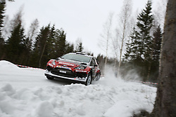 15.02.2015,  Karlstad, SWE, FIA, WRC, Schweden Rallye, im Bild Henning Solberg/Ilka Minor (Henning Solberg/Ford Fiesta RS WRC) // during the WRC Sweden Rallye at the Karlstad in Karlstad, Sweden on 2015/02/15. EXPA Pictures © 2015, PhotoCredit: EXPA/ Eibner-Pressefoto/ Bermel<br /> <br /> *****ATTENTION - OUT of GER*****