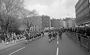 Sinn Fein (Provo) Dublin Parade.   K22..1976..25.04.1976..04.25.1976..25th April 1976..Sinn Fein held an Easter Rising Commemorative parade..The parade started at St Stephens Green, Dublin and proceeded through the streets to the G.P.O.in O'Connell Street, the scene of the centre of the 1916 uprising..Pictured is a children's band taking part in the Sinn Fein parade to commemorate the 1916 Rising.