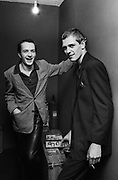 The Clash Paul Simonon and Joe Strummer backstage at the London Lyceum 1981