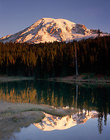 Mount Rainier 14,411ft (4,392m) from Reflection Lake, Mount Rainier National Park