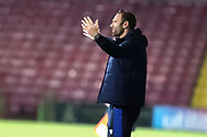 Ian Evatt  during the EFL Sky Bet League 2 match between Scunthorpe United and Bolton Wanderers at the Sands Venue Stadium, Scunthorpe, England on 24 November 2020.