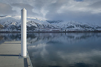 Boat dock on Columbia River, Entiat Washington