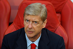 27.08.2013, Emirates Stadion, London, ENG, UEFA CL Qualifikation, FC Arsenal vs Fenerbahce Istanbul, Rueckspiel, im Bild Arsenal's Manager Arsene Wenger during the UEFA Champions League Qualifier second leg match between FC Arsenal and Fenerbahce Istanbul at the Emirates Stadium, United Kingdom on 2013/08/27. EXPA Pictures © 2013, PhotoCredit: EXPA/ Mitchell Gunn<br /> <br /> ***** ATTENTION - OUT OF GBR *****