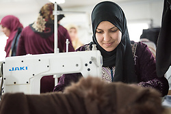 20 February 2020, Za'atari Camp, Jordan: Ayat Abohussein participates in sewing class in the Peace Oasis, a Lutheran World Federation space in the Za'atari Camp where Syrian refugees are offered a variety of activities on psychosocial support, including counselling, life skills trainings and other activities.