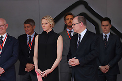 May 26, 2019 - Monte Carlo, Monaco - xa9; Photo4 / LaPresse.26/05/2019 Monte Carlo, Monaco.Sport .Grand Prix Formula One Monaco 2019.In the pic: S.A.S La Princesse Charlene De Monaco and S.A.S. Prince Albert II (Credit Image: © Photo4/Lapresse via ZUMA Press)