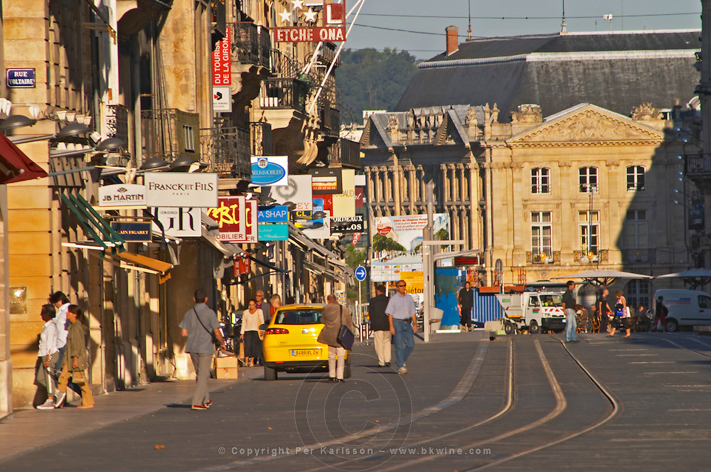 The Cours de L'Intendence shopping street in Bordeaux