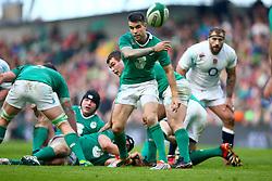 Ireland's Conor Murray in action - Photo mandatory by-line: Ken Sutton/JMP - Mobile: 07966 386802 - 01/03/2015 - SPORT - Rugby - Dublin - Aviva Stadium - Ireland v England - Six Nations
