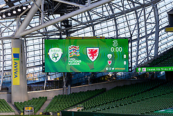 DUBLIN, REPUBLIC OF IRELAND - Sunday, October 11, 2020: A general view before the UEFA Nations League Group Stage League B Group 4 match between Republic of Ireland and Wales at the Aviva Stadium. The game ended in a 0-0 draw. (Pic by David Rawcliffe/Propaganda)