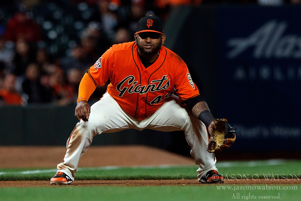 SAN FRANCISCO, CA - JULY 06: Pablo Sandoval #48 of the San Francisco Giants stands on the field during the ninth inning against the St. Louis Cardinals at AT&T Park on July 6, 2018 in San Francisco, California. The San Francisco Giants defeated the St. Louis Cardinals 3-2. (Photo by Jason O. Watson/Getty Images) *** Local Caption *** Pablo Sandoval