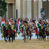 Competitors' march during the National Galop equestrian festival in Budapest, Hungary on September 16, 2012. ATTILA VOLGYI